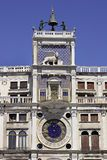 Clock in Venice. St. Marks' Square stock photography