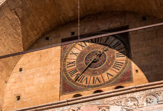 Clock on the Verona Cathedral Royalty Free Stock Photography