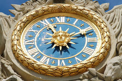 The clock in Versailles Stock Images