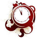 Clock in a vintage style. Royalty Free Stock Photos