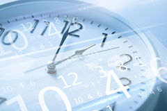 Clock and virtual screen Royalty Free Stock Photos