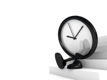 Clock waiting Stock Photography