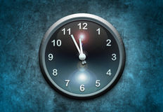 Clock on wall Royalty Free Stock Images