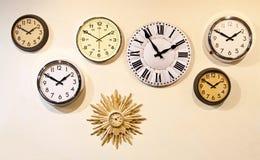 Clock wall Stock Photos