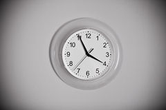 Clock on the wall Royalty Free Stock Photography