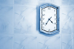 Clock on wall Royalty Free Stock Photography
