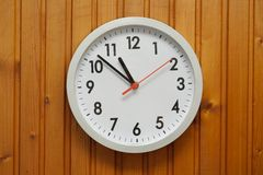 Clock on the wall Stock Image