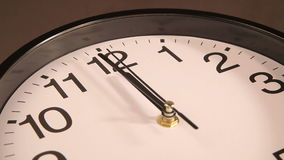 Clock on the wall. Clock black on the wall, 12:00 stock video footage