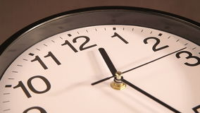 Clock on the wall stock footage