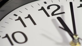 Clock on the wall. Clock black on the wall, Time Lapse stock video footage