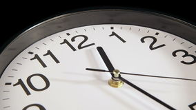 Clock on the wall. Clock black on the wall, Time Lapse stock video