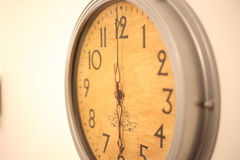 Clock on the wall Royalty Free Stock Images