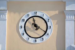 Clock on the wall of a building Royalty Free Stock Images