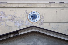 The clock on the wall of the church. Royalty Free Stock Photography