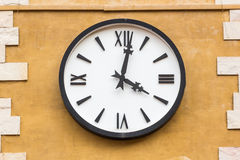 Clock on the wall Royalty Free Stock Photo