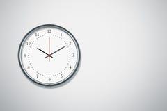 Clock at the wall Royalty Free Stock Photography