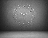 Clock. Wall clock isolated on black Royalty Free Stock Images