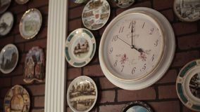 Clock on wall stock video