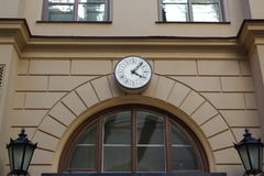Clock on wall Stock Photography