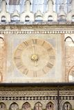 Ancient clock in Padua stock photo