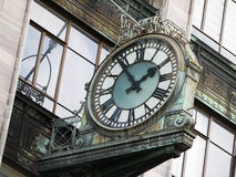 Clock on the wall, Queen Street; Auckland Royalty Free Stock Photography