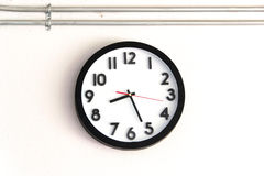 Clock on the wall Royalty Free Stock Photos