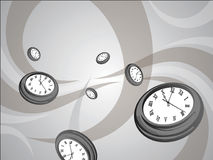 Clock Wallpaper Royalty Free Stock Photo