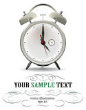 Clock watch alarm. Gray clock watch alarm in 3d  style Royalty Free Stock Photography