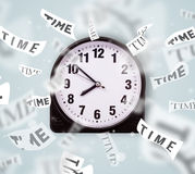 Clock and watch concept with time flying away Stock Photography