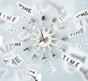 Clock and watch concept with time flying away Stock Photos