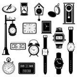 Clock/Watch evolution set Stock Photos