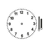 Clock. Watch face with respective hands to learn the clock Stock Photography