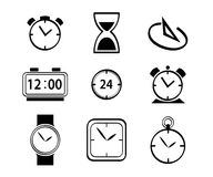 Clock and watch set Royalty Free Stock Photography