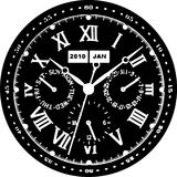 Clock Watch Vector 07 Royalty Free Stock Photo