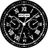 Clock Watch Vector 07. Clock Watch Decoration Illustration Vector Royalty Free Stock Photo