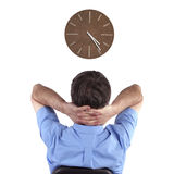 Clock watcher Royalty Free Stock Photo