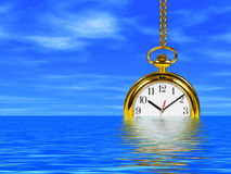 Clock in water Royalty Free Stock Photo