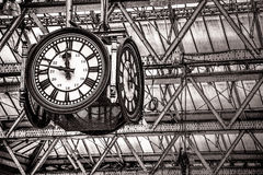 Clock in Waterloo Station Royalty Free Stock Photos