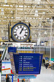 Clock at Waterloo station, London Stock Photo