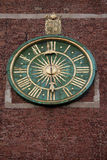 Clock on Wawel Cathedral Bell Tower in Krakow Royalty Free Stock Images