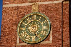 Clock at Wawel Cathedral Bell Tower royalty free stock image