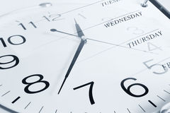 Clock and week days Stock Image