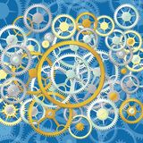 Clock wheels. Vector background illustration with clock wheels Stock Photo