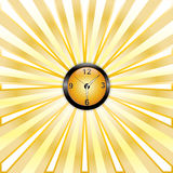 Clock whit rays Stock Photography