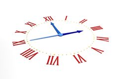 Clock on white. Background (computer generated images stock illustration