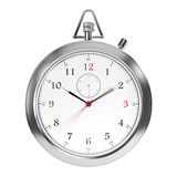 Clock on white Royalty Free Stock Images