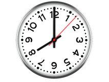 Clock on white. Patch included Royalty Free Stock Photography