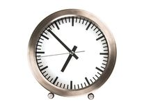 Clock on a white background Royalty Free Stock Photo