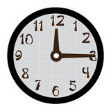 Clock  on white Royalty Free Stock Photography