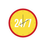Clock on a white background. Royalty Free Stock Image